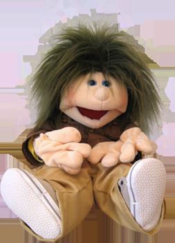 Puppe Malte erklärt die Dauer einer Psychotherapie für Kinder in der Psychotherapie Bochum von Diplom Psychologin Susanne Kiessling